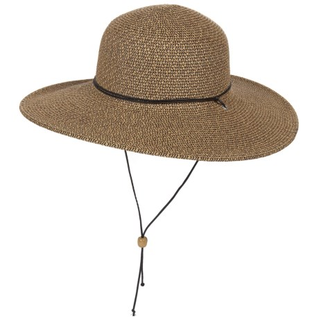 Scala Paper Braid Big Brim Hat - UPF 50+ (For Women)