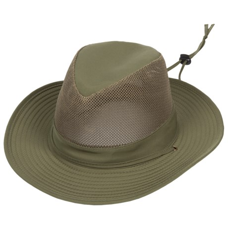 Dorfman Pacific Microfiber Mesh Crown Safari Hat - UPF 50+ (For Men)