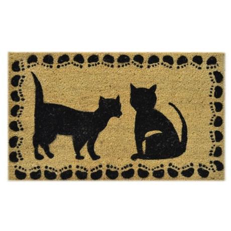 """Imports Décor Cat Silhouettes Coir Doormat - 18x30"""""""