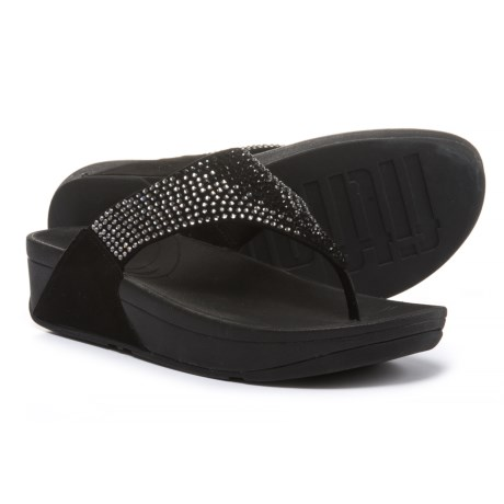 FitFlop Flare Wedge Flip-Flops - Leather (For Women)