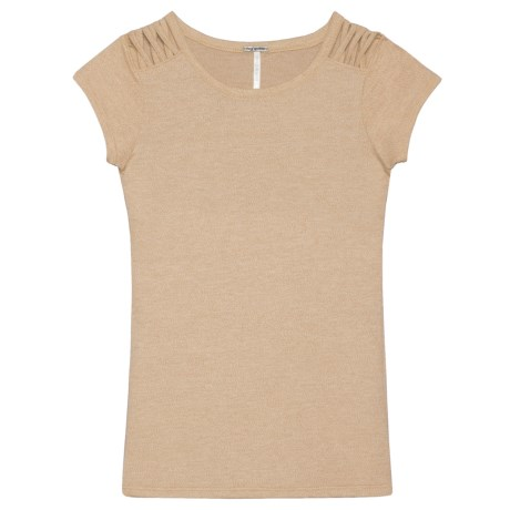 Poof Lattice Shoulder Shirt - Short Sleeve (For Girls)