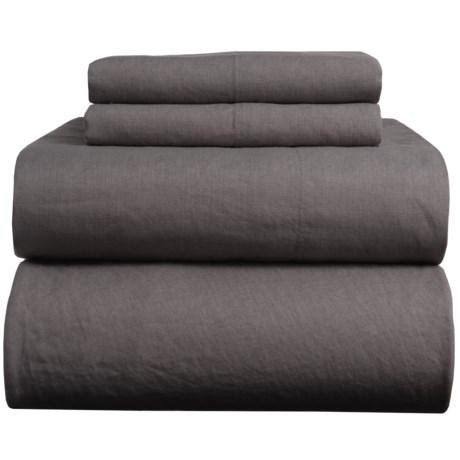 Melange Home Natural Linen Sheet Set - King