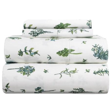Melange Home Sprigs Cotton Sheet Set - King, 400 TC