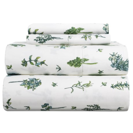 Melange Home Sprigs Cotton Sheet Set - Queen, 400 TC
