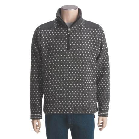 Ivanhoe of Sweden Ivanhoe Vidar Lambswool Sweater - Zip Neck (For Men)