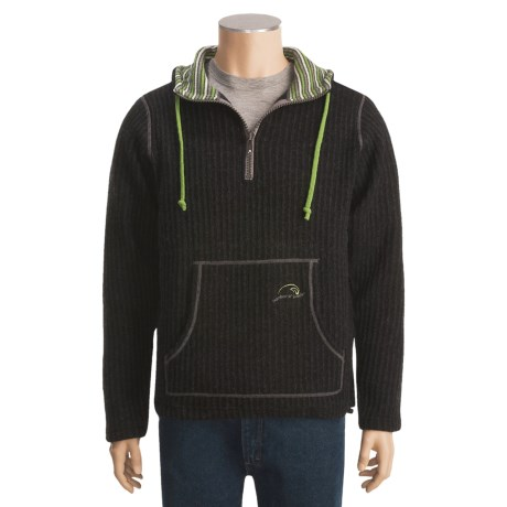 Ivanhoe Rolf Rib-Knit Sweater - Boiled Wool, Zip Neck (For Men)
