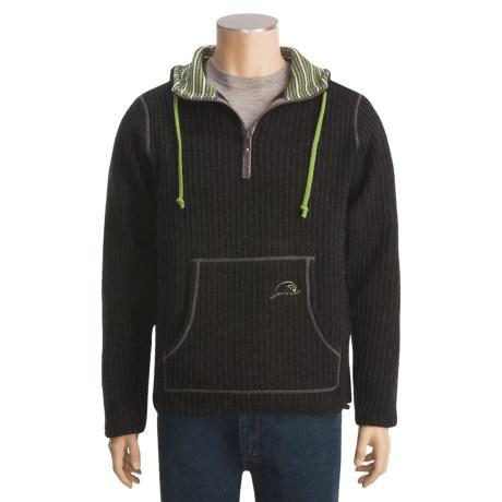 Ivanhoe of Sweden Ivanhoe Rolf Rib-Knit Sweater - Boiled Wool, Zip Neck (For Men)