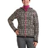 Ivanhoe of Sweden Erika Hooded Sweater - Lambswool, Zip (For Women)