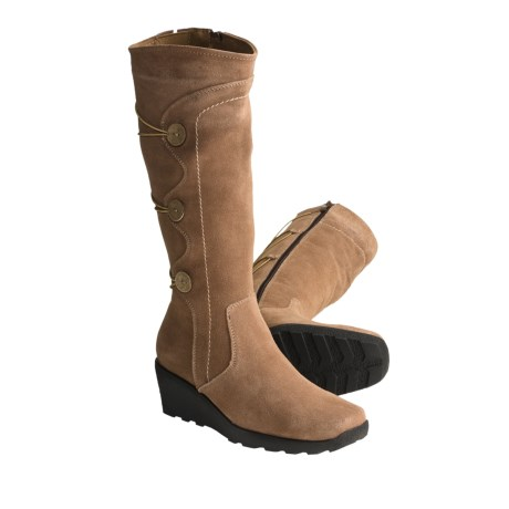 Henri Pierre by Bastien Elody Suede Boots - Wool Lined (For Women)