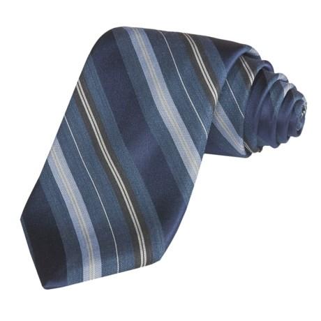 Altea Tonal Track Stripe Tie - Silk-Wool (For Men)
