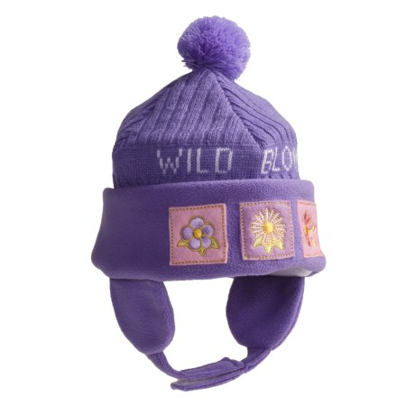 Jacob Ash Attakid Wild Bloom Ribbed Knit Hat (For Infant Girls)