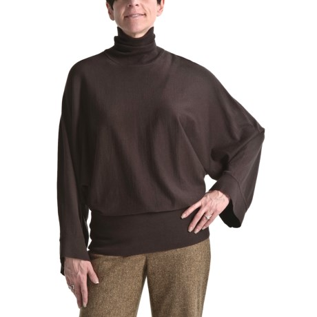 Audrey Talbott Turtleneck Sweater - Long Dolman Sleeve (For Women)