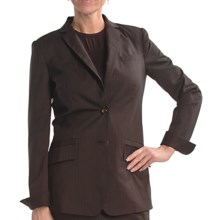 Audrey Talbott Pinstripe Boyfriend Jacket (For Women) in Port - Closeouts