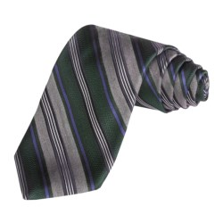 Altea Track Stripe Tie- Silk-Wool (For Men)