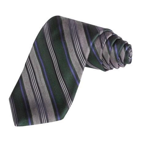 Altea Track Stripe Tie- Silk-Wool (For Men)
