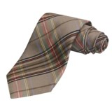 Altea Large Plaid Tie - Silk