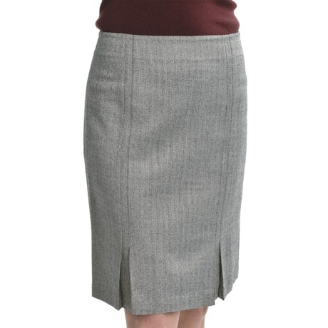 Audrey Talbott Pencil Skirt - Chevron Dobby Tick Stripe, Wool (For Women)