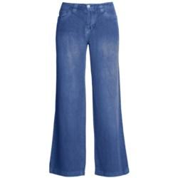 Ryan Michael Linen Pants - Flat Front, Straight Leg (For Women)