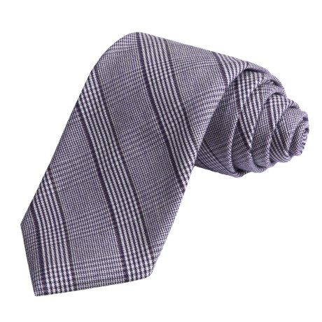 Altea Tonal Plaid Tie - Wool-Silk (For Men)