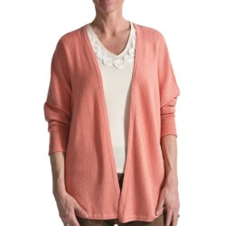 Audrey Talbott Diagonal Cardigan Sweater - 3/4 Sleeve (For Women)