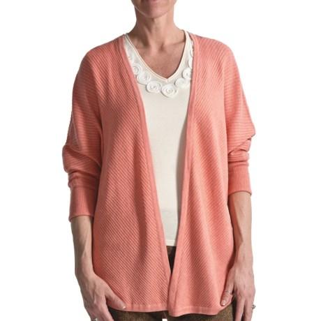 Audrey Talbott Diagonal Cardigan Sweater - 3/4 Sleeve (For Women)
