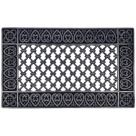 """Entryways Moroccan Rubber Doormat - 18x30"""""""