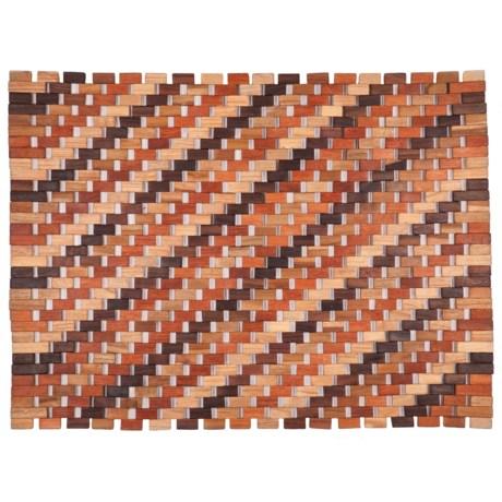 """Entryways Roosevelt Exotic Wood Doormat - 18x30"""""""