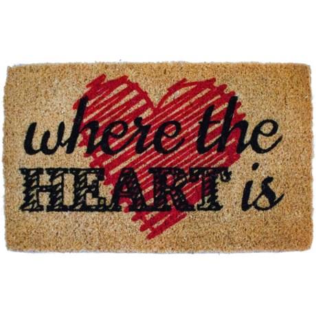"Entryways Where the Heart Is Coir Doormat - 18x30"""