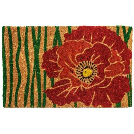 """Entryways Bloom Coir Doormat - 18x30"""""""