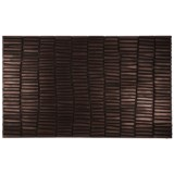 """Entryways Wood Wall Recycled Rubber Doormat - 18x30"""""""