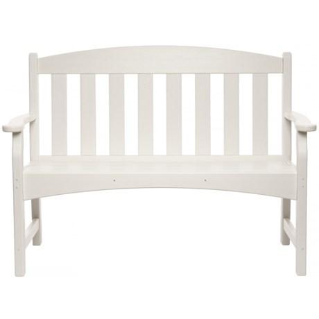 Breezesta Skyline Collection White Garden Bench