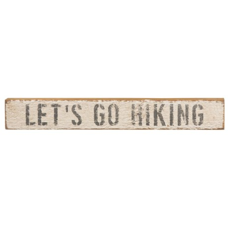 """Seven Anchor Designs """"Let's Go Hiking"""" Wooden Sign - 20x3x2"""""""