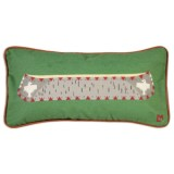 Chandler 4 Corners Canoe on Green Canvas Pillow - 12x24""