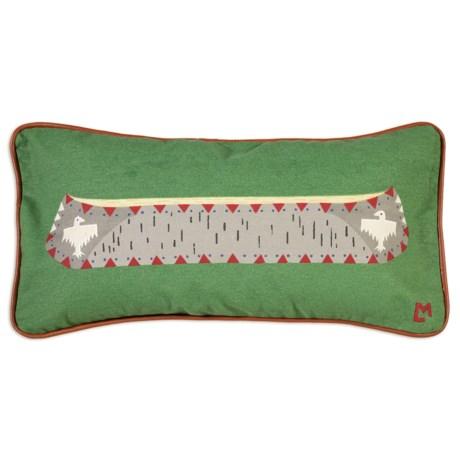 "Chandler 4 Corners Canoe on Green Canvas Pillow - 12x24"""