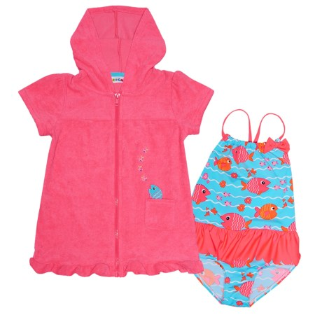 Wippette Swimsuit and Cover-Up - Short Sleeve (For Toddler Girls)
