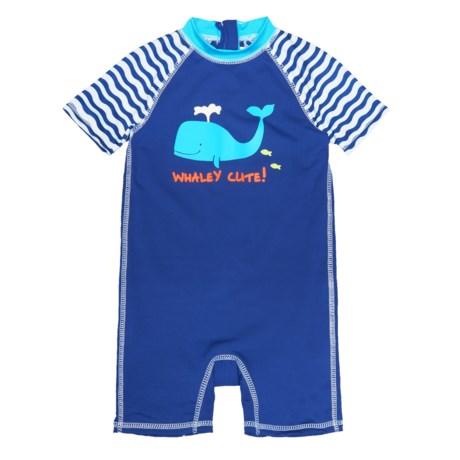 Wippette Whale Swimsuit - UPF 50, Short Sleeve (For Infant Boys)