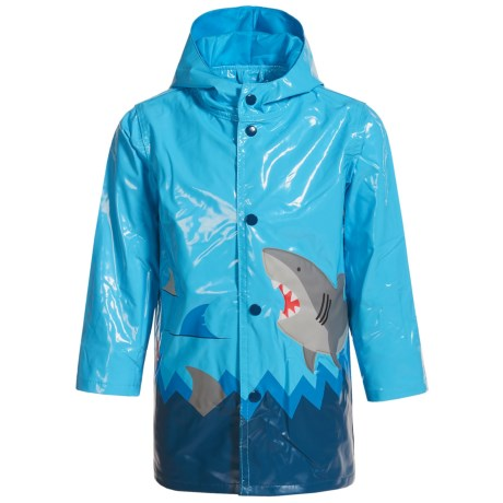 Wippette Shark Hooded Raincoat (For Toddler Boys)