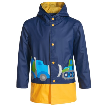 Wippette Construction Hooded Raincoat (For Toddler Boys)