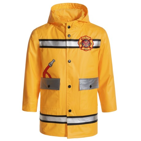 Wippette Fire Fighter Hooded Raincoat (For Toddler Boys)
