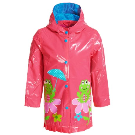 Wippette Frog on Flower Hooded Raincoat (For Toddler Girls)