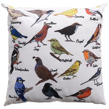 "Levinsohn Bird Decor Outdoor Pillow - 18x18"""