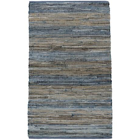 Madison Home Sand Stripe Chindi Accent Rug - 3x5'