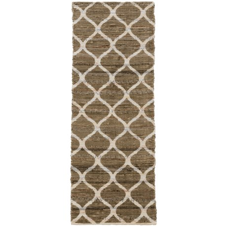 "Madison Home Taupe Lattice Floor Runner - 1'10""x5'"