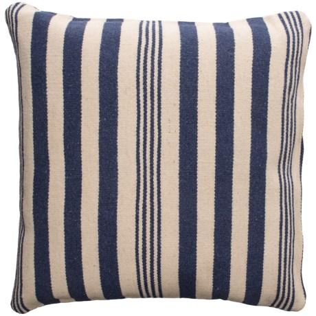 Rizzy Home Wool Canvas Striped Decor Pillow - 24x24""