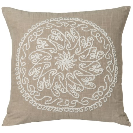 Rizzy Home Medallion Stitched Throw Pillow - 18x18""