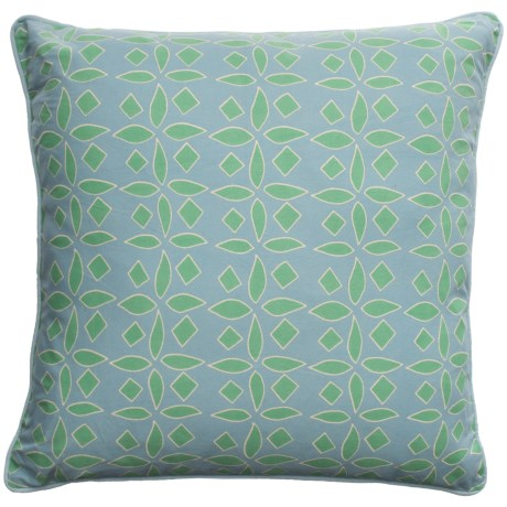 Rizzy Home Floral Cutout Throw Pillow - 22x22""