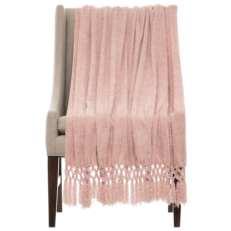 "THRO Dede Rose Smoke Chenille Blanket - 50x60"""