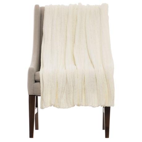 "THRO Ace Egret Knit Blanket - 50x60"""