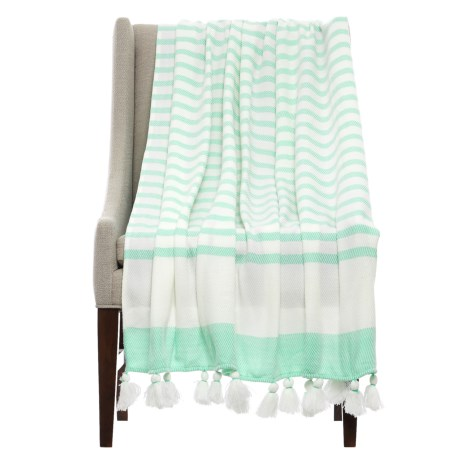 "THRO Jenessa Ocean Striped Blanket - 50x60"""