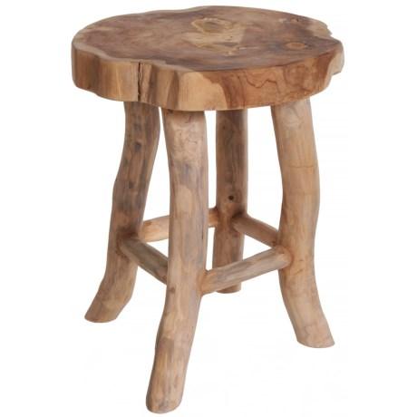 J Hunt Teak Wooden Stool